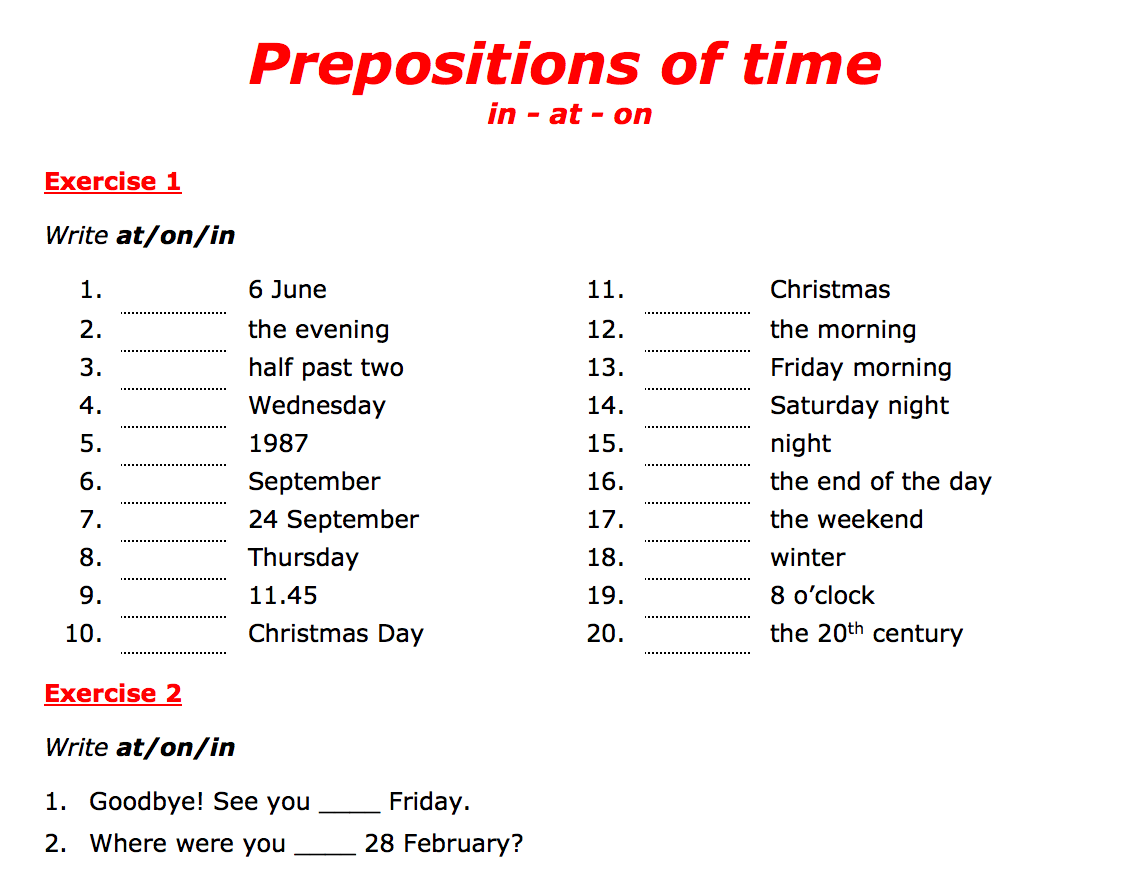 hight resolution of 443 FREE Preposition Worksheets: Teach Prepositions With Style!