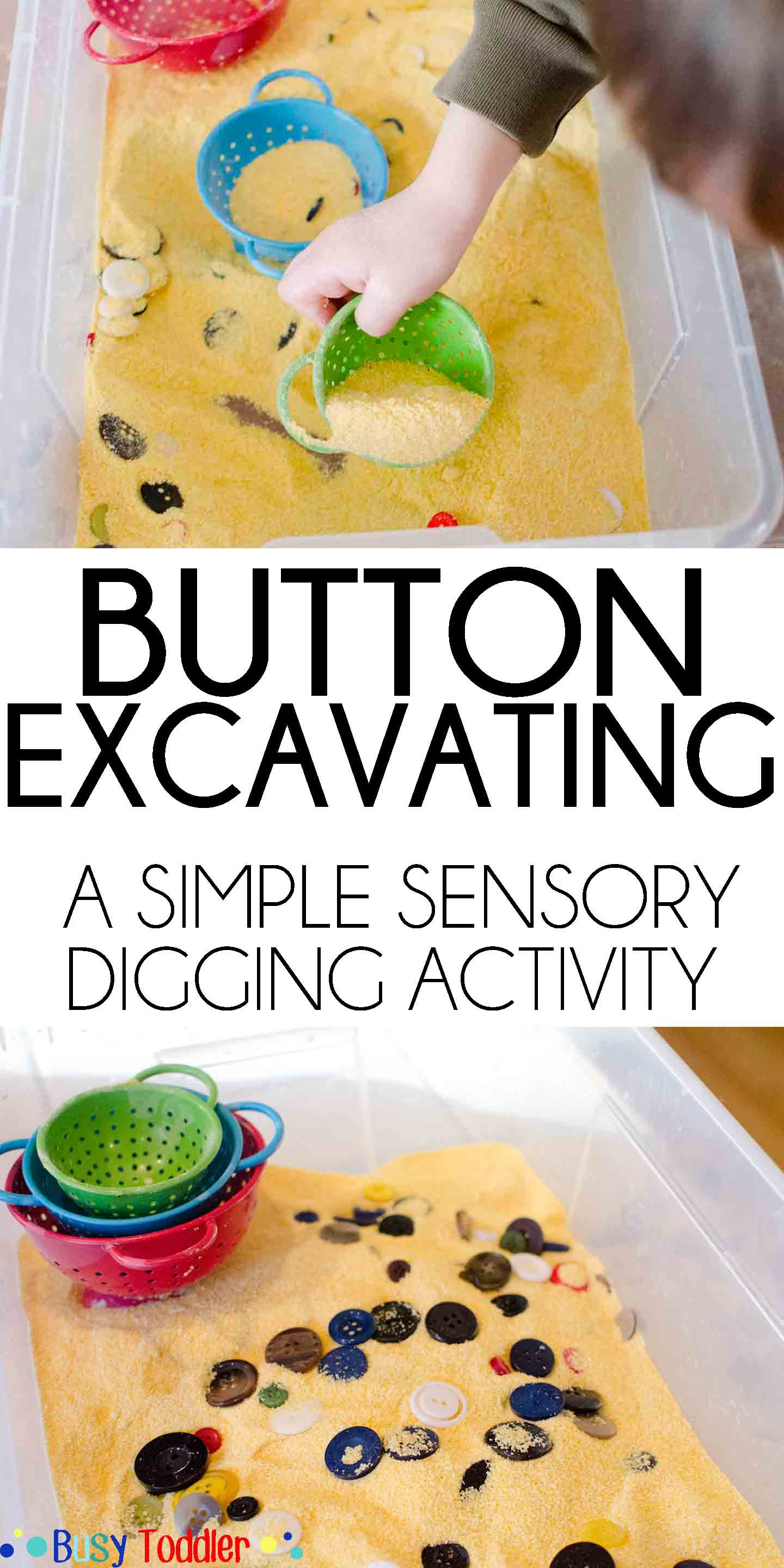 Button Excavating A Digging Sensory Activity