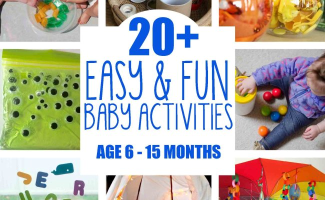 20 Fun Easy Baby Activities Busy Toddler