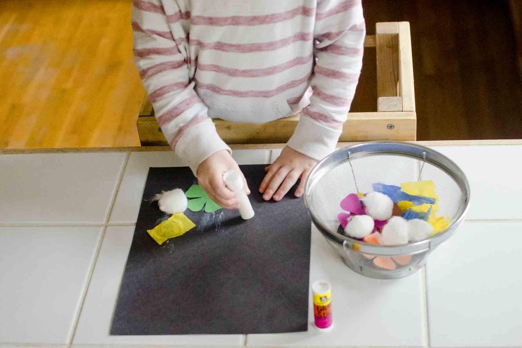 Skill Practice: Glue Stick Activity Bin - Busy Toddler