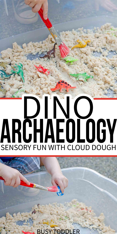 Dinosaur Archaeology Cloud Dough Sensory