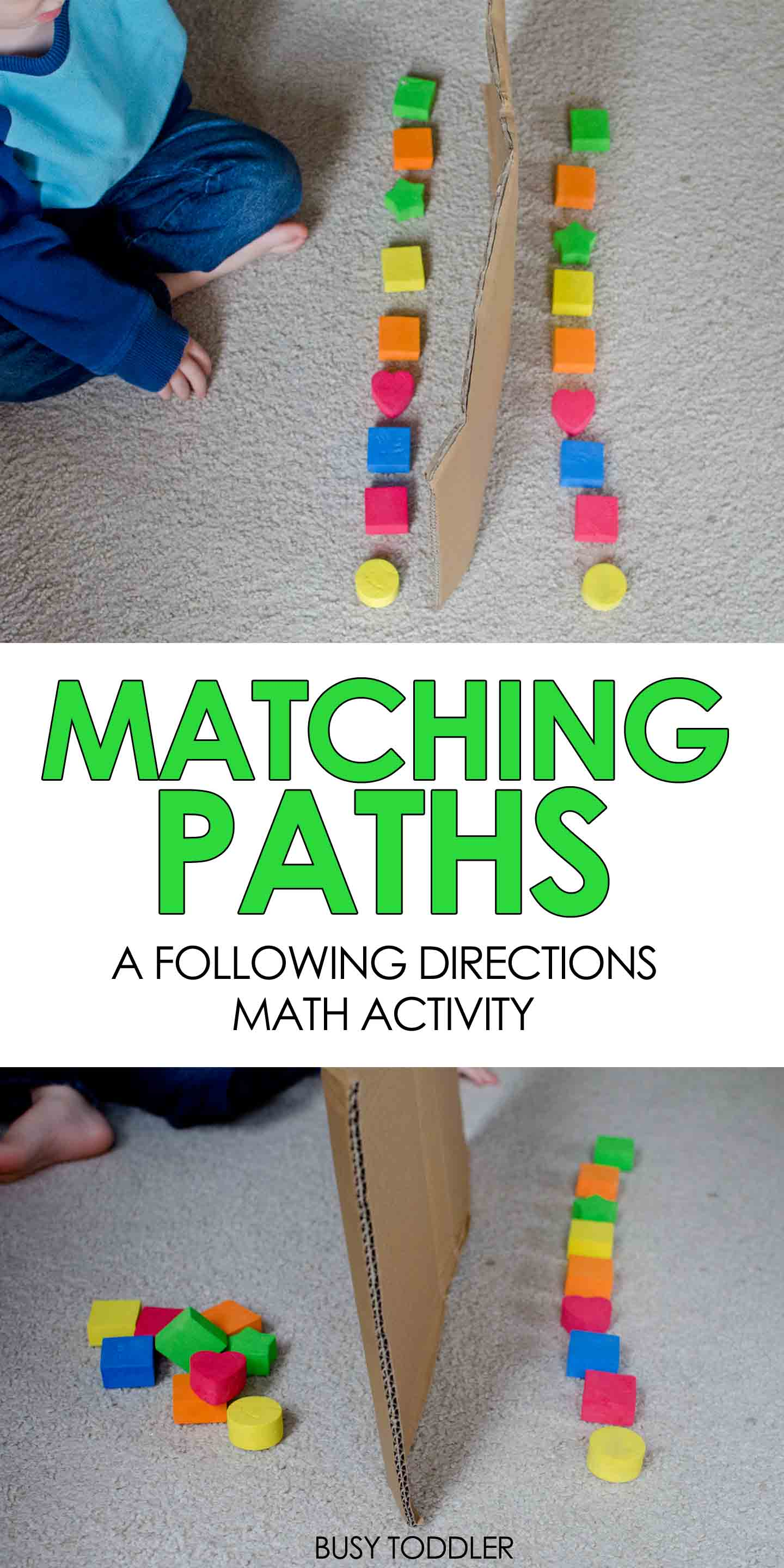 Matching Paths Easy Math Activity
