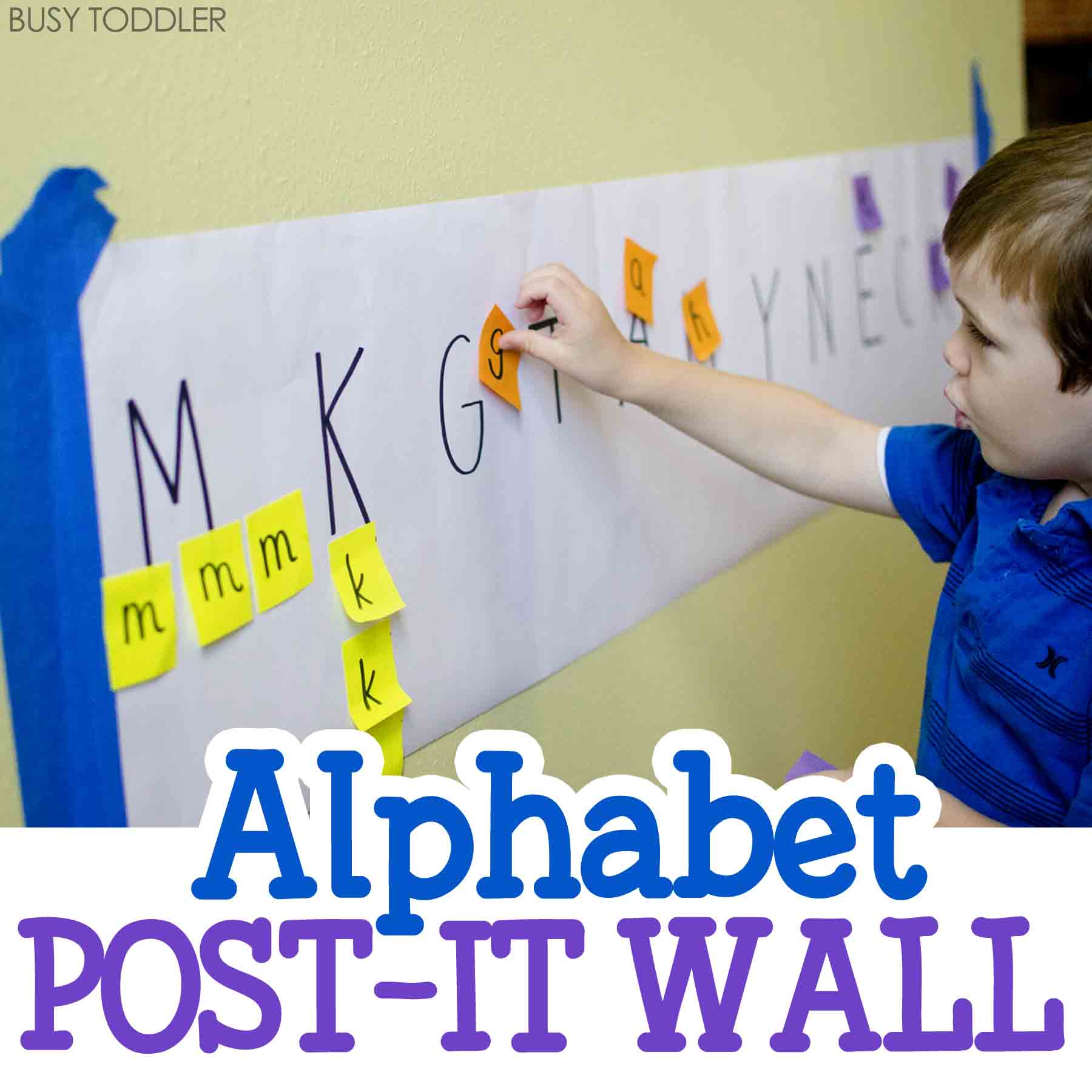Alphabet Post It Wall