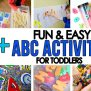 50 Alphabet Activities All Hands On Play Busy Toddler