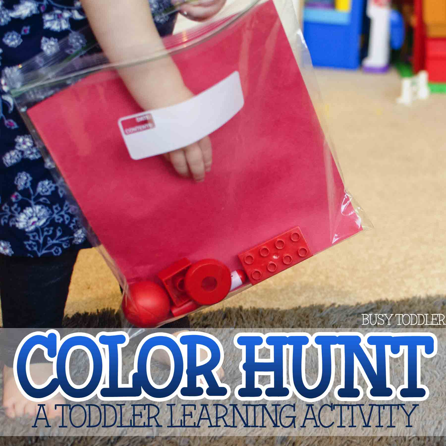 Learning Colors Activity Color Hunt