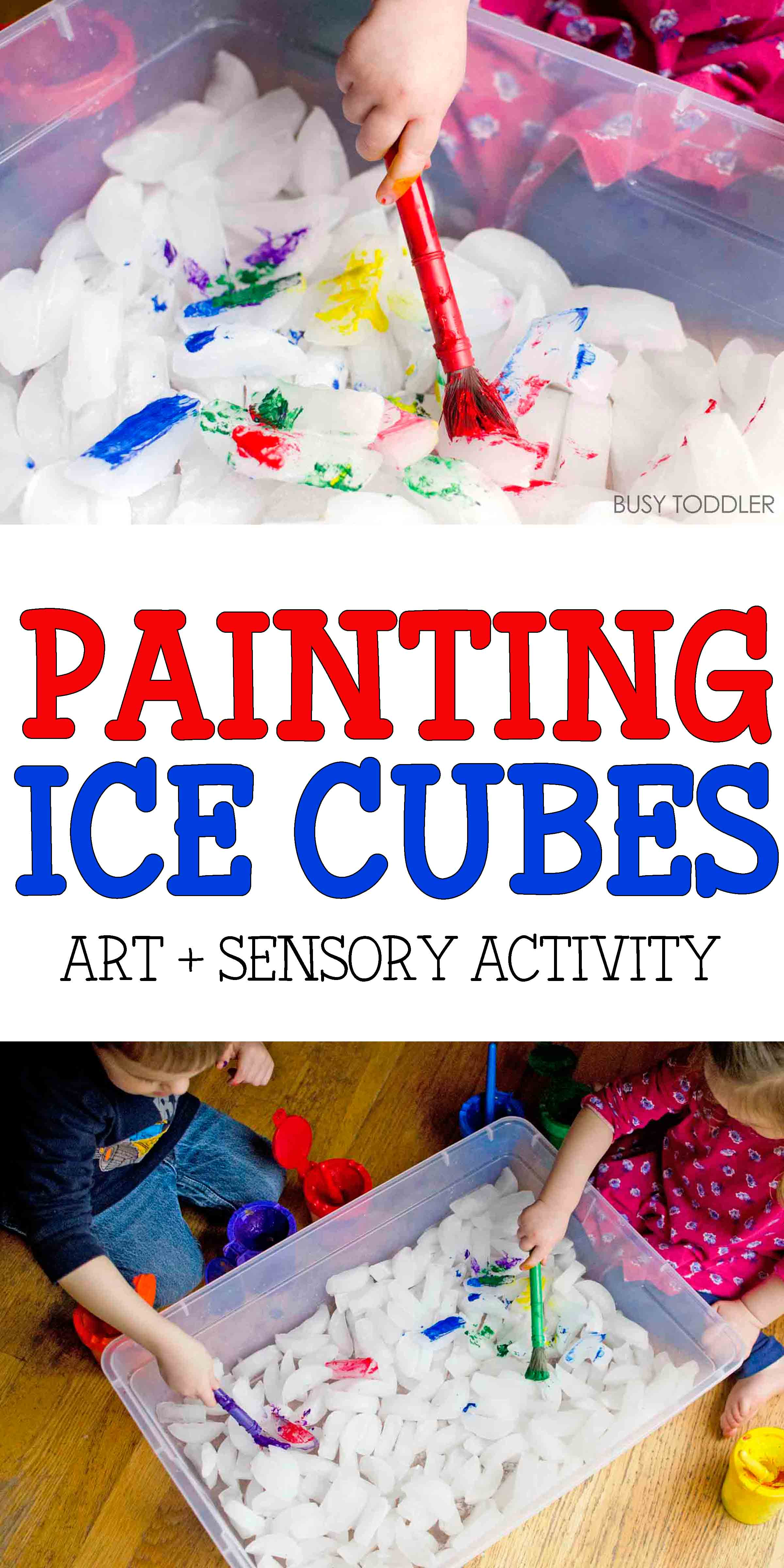 Painting Ice Cubes Activity