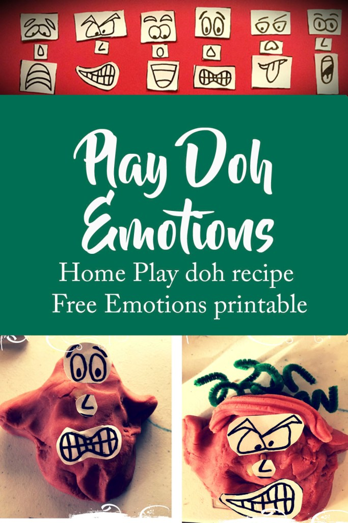 Play Doh Recipe, Emotional Intelligence, facial recognition, emotions