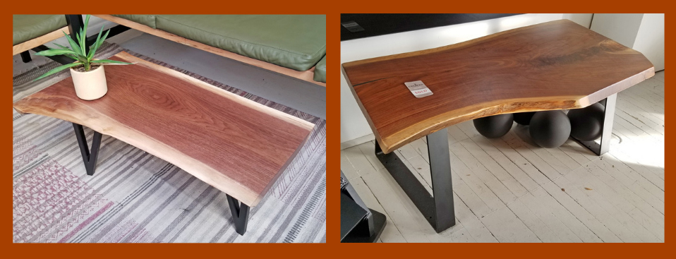 created hardwood coffee table