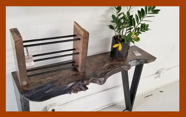 created hardwood sofa table