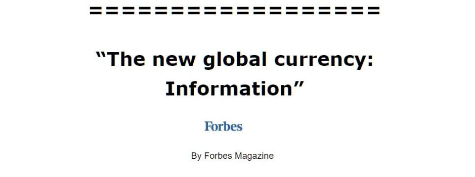 information is the new gold