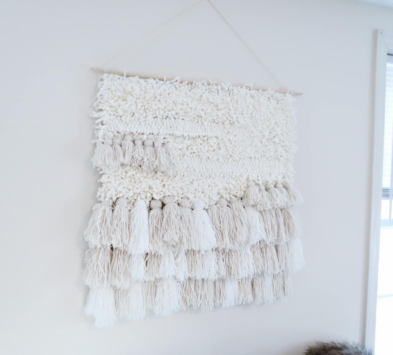 DIY Yarn Wall Hanging Art