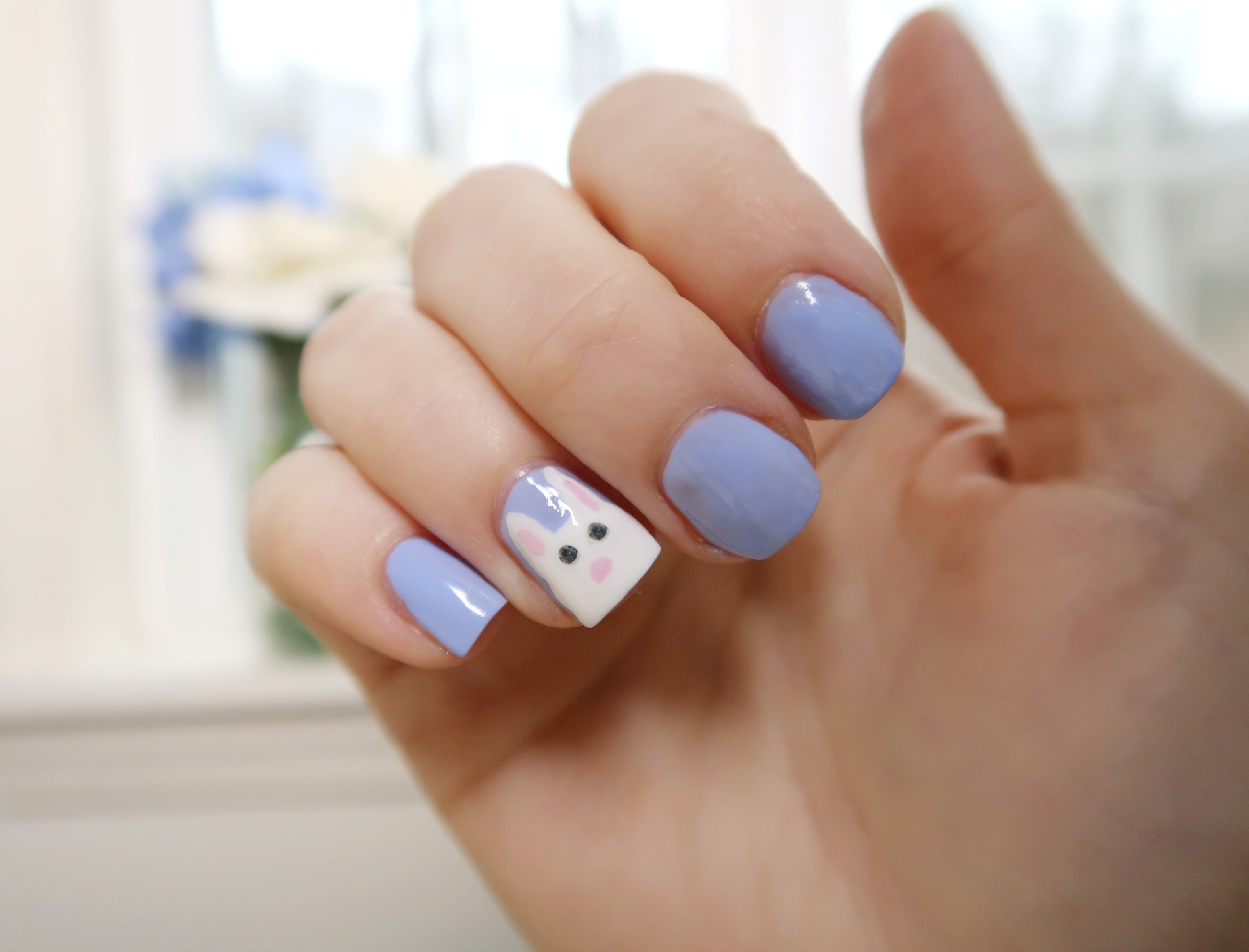 Super Simple Easter Bunny Nails | Beauty Blog in Connecticut