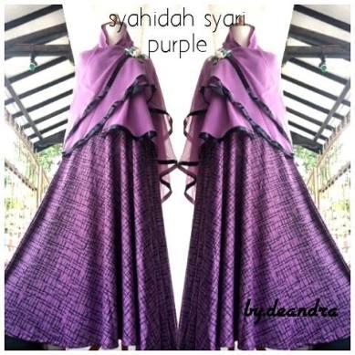 photo asli syahidah syari purple