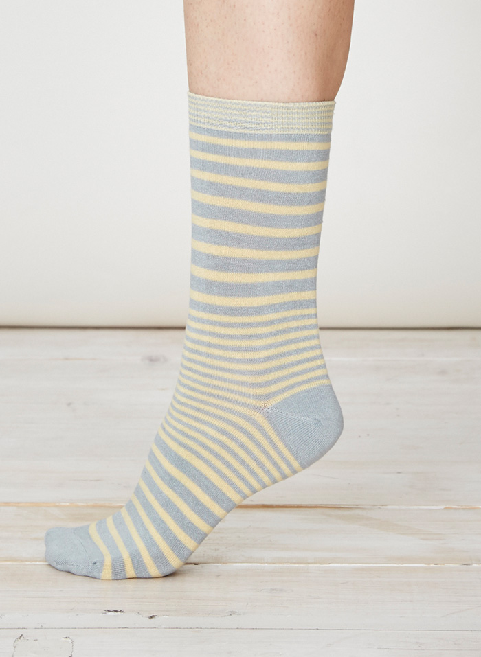 SPW220-Lillian-Bamboo-Socks-Maize-Side