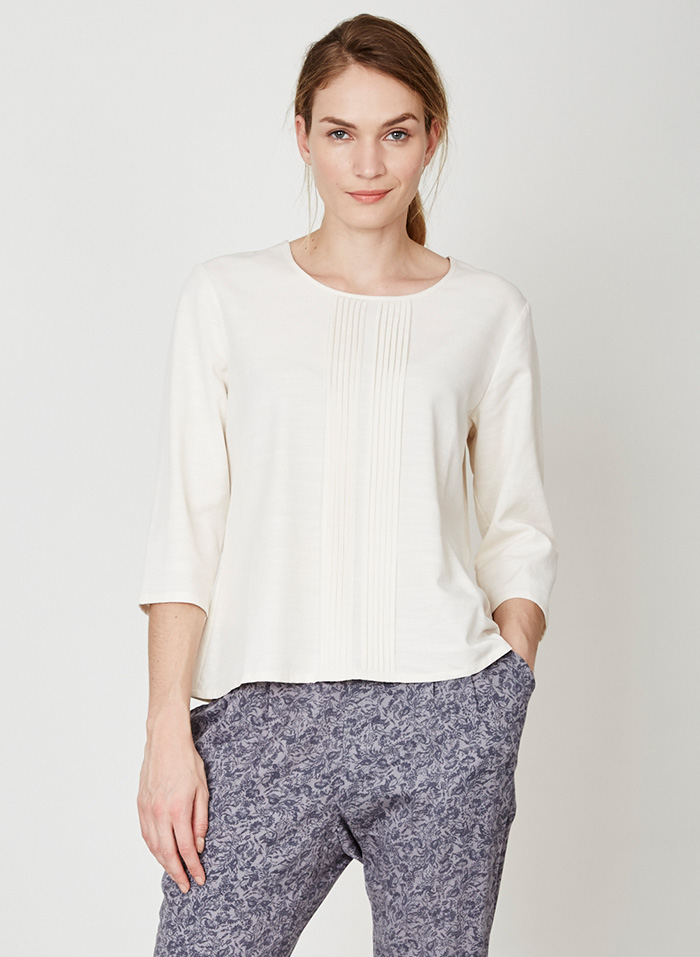 WST2986-Orian-Tencel-Blouse-Lily-White-Close