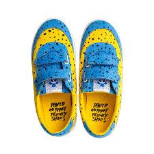 mini rodini sneakers blågul