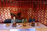 ::our last yurt dinner::