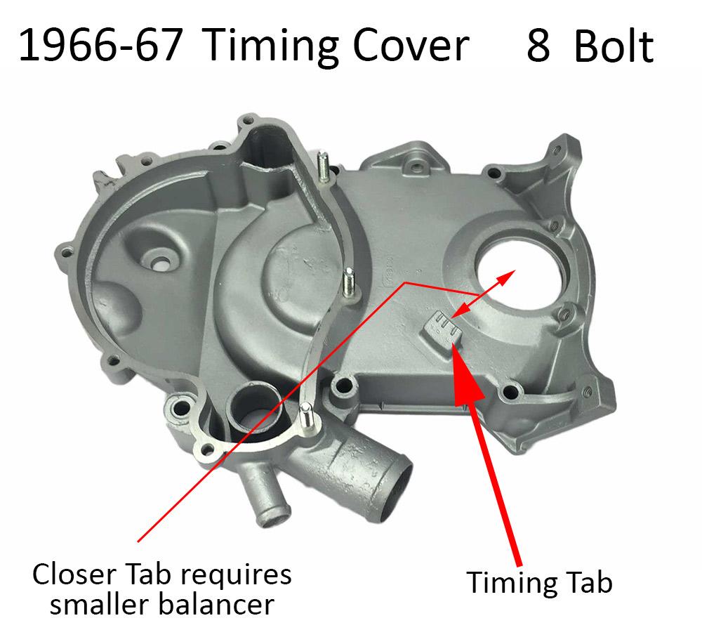medium resolution of 1966 67 pontiac timing cover 8 bolt tab style