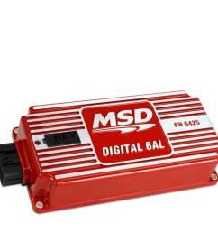 msd performance msd 6al digital ignition box w built in rev limiter red [ 1000 x 1000 Pixel ]
