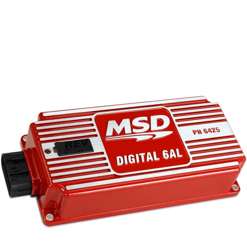 hight resolution of msd performance msd 6al digital ignition box w built in rev limiter red