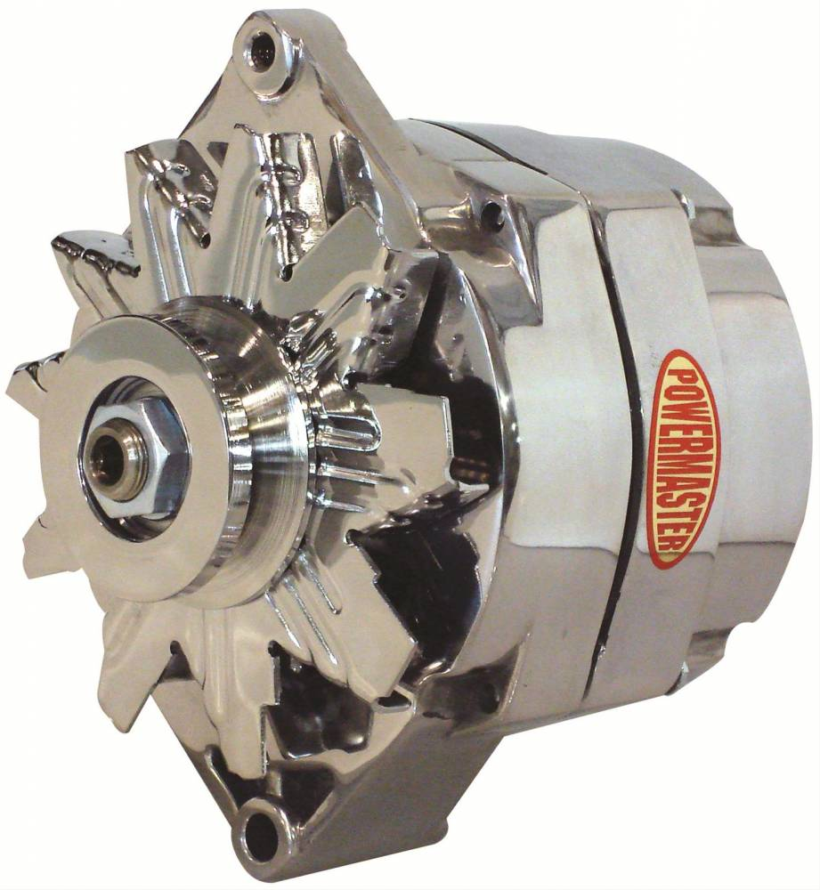hight resolution of power master powermaster gm 12si 100 amp 1 wire polished alternator pow 27294