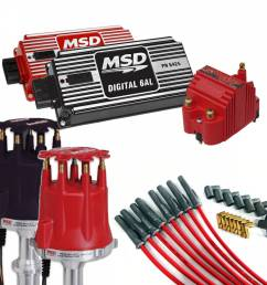 msd performance complete msd ignition kit dist wires coil and ignition [ 1000 x 1000 Pixel ]