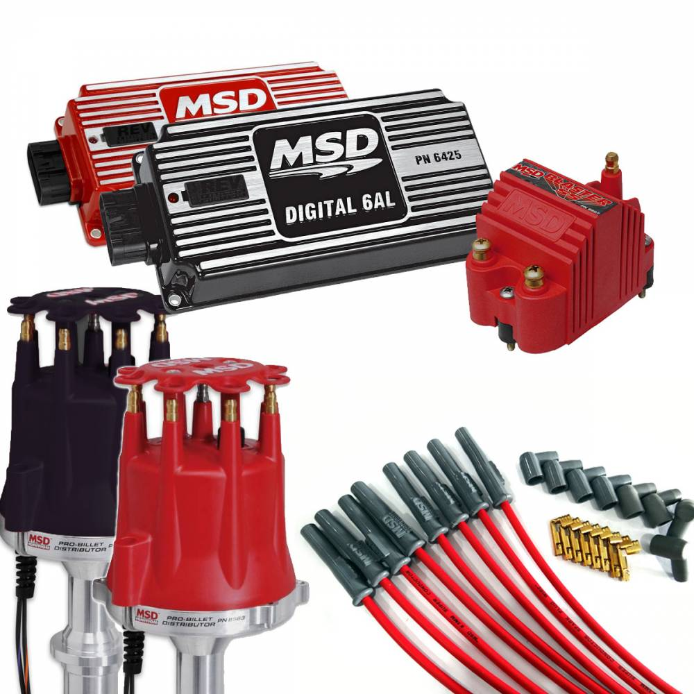 medium resolution of msd performance complete msd ignition kit dist wires coil and ignition