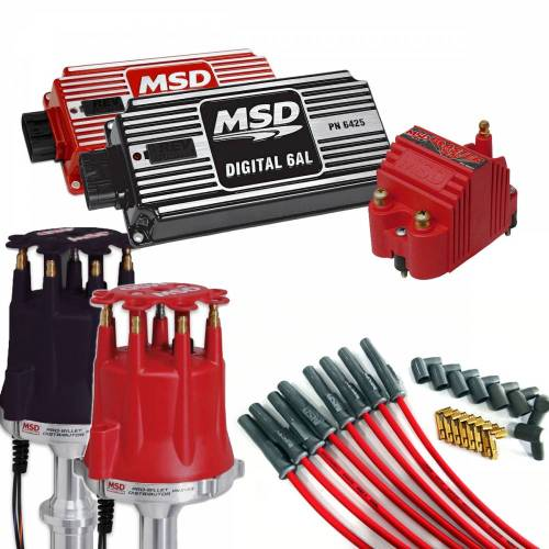 small resolution of msd performance complete msd ignition kit dist wires coil and ignition