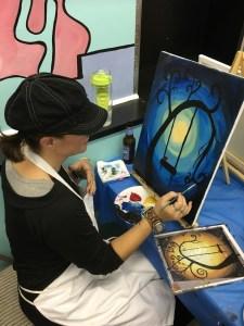 Lola paints