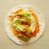 Halloumi, Roasted Pepper & Egg Wrap..... with other stuff too