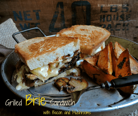 Grilled Brie Sandwich with Bacon and Mushrooms 2