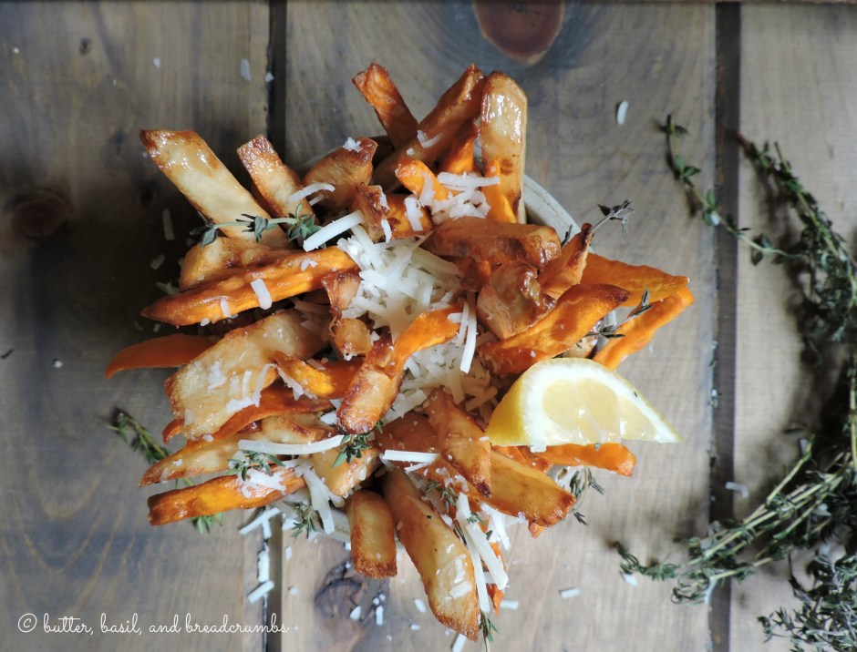 Sweet and White Potato French Fries