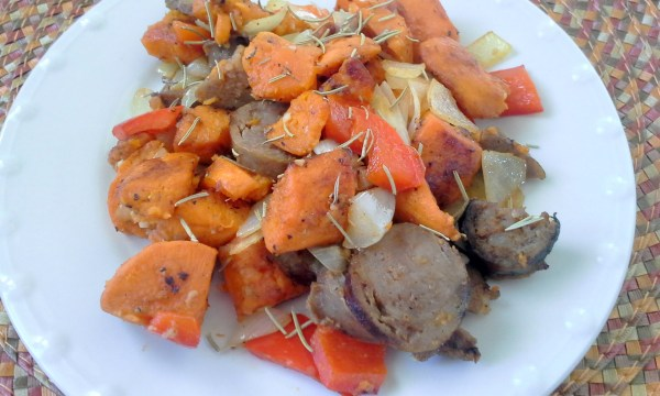 Sweet Potatoe and Sausage Hash