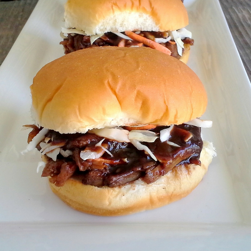 Balsamic Honey Pulled Pork Sandwiches