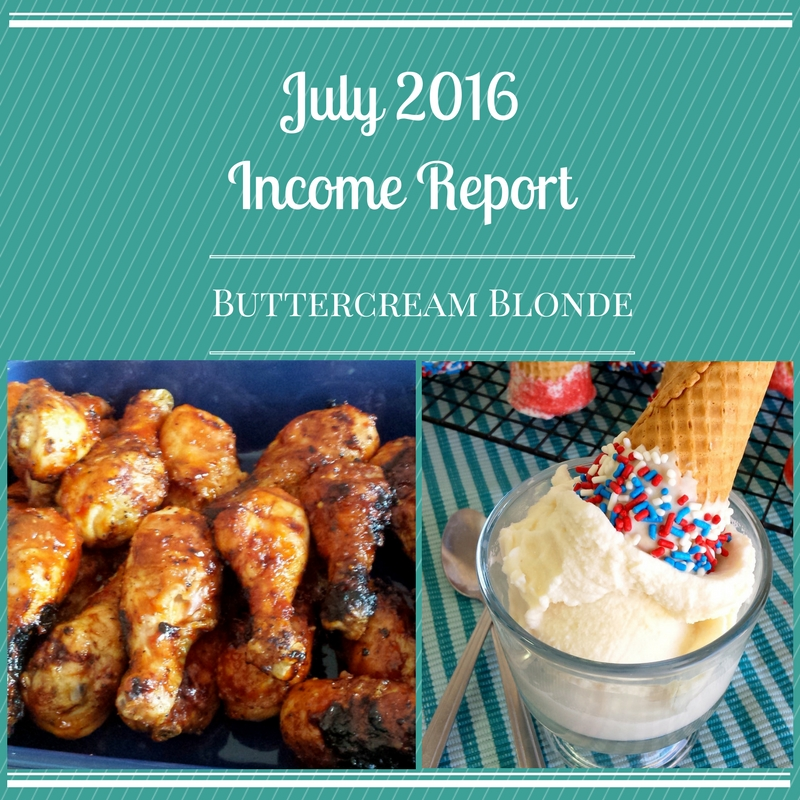 July 2016 Income Report