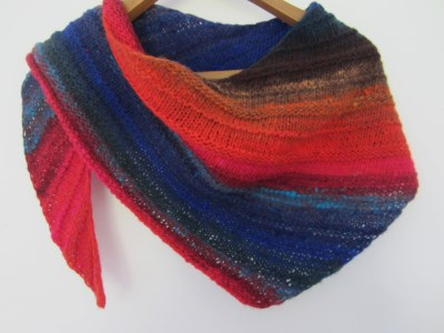 noro kureopatora 1024 quaker yarn stretcher knitted shawl