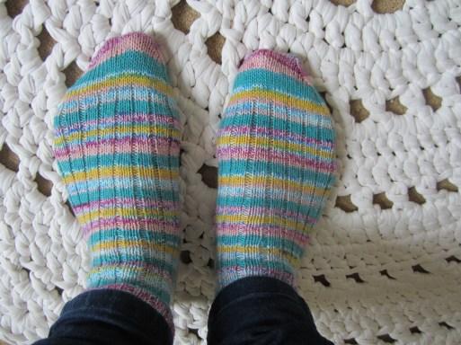 ribbed socks 4ply