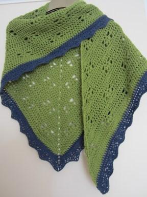 CherryHeart Victoria shawl crochet DK