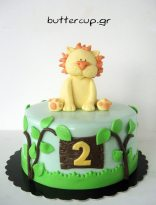 Lion safari cake
