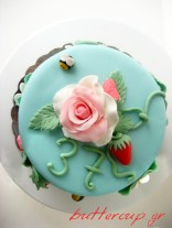 strawberries and rose cake-8wtr