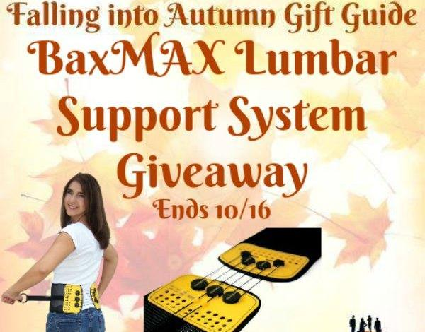 BaxMAX Lumbar Support System Giveaway Ends 10/16