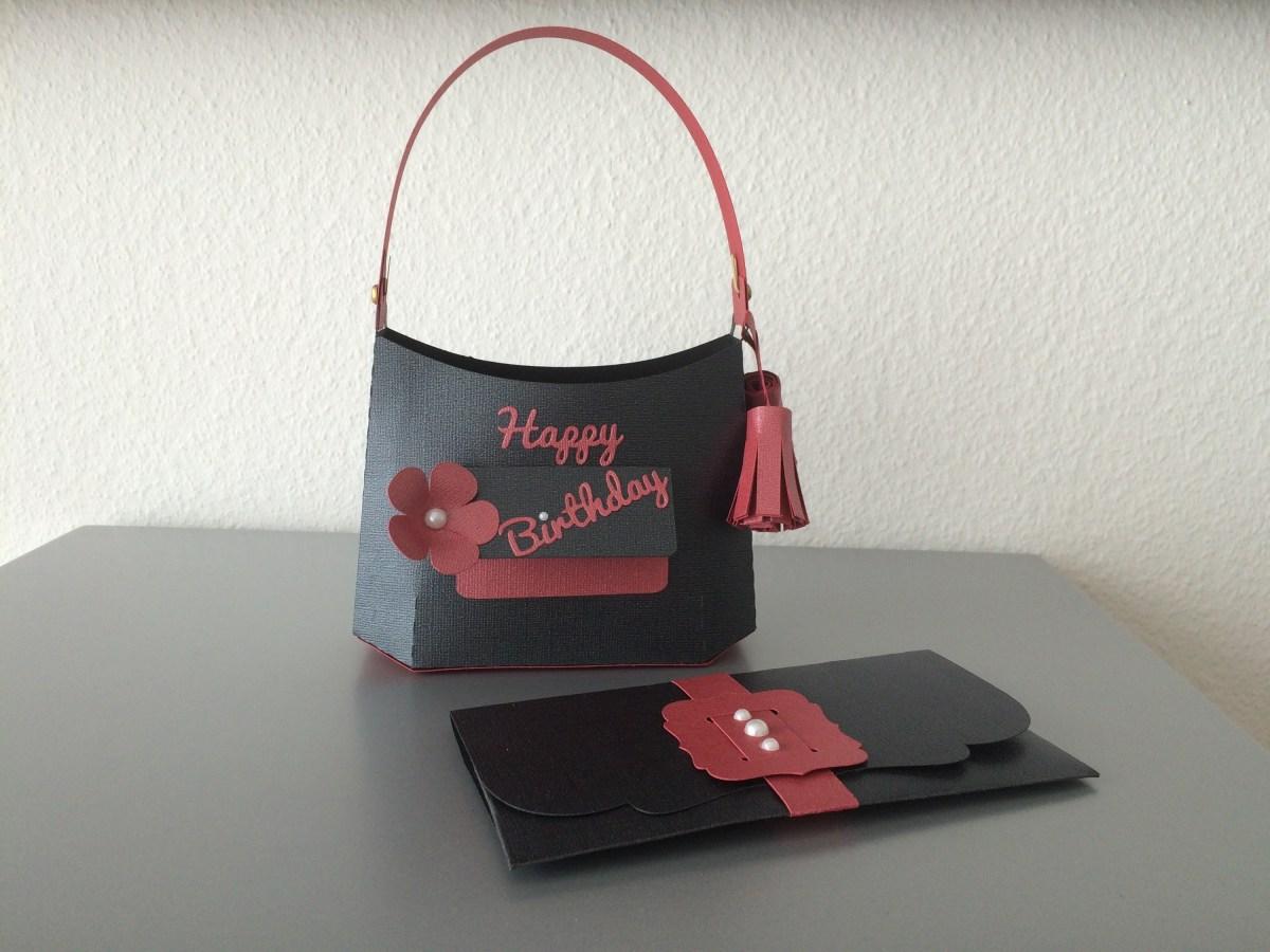 Geldgeschenk Tasche Geburtstag  ButterflyCards