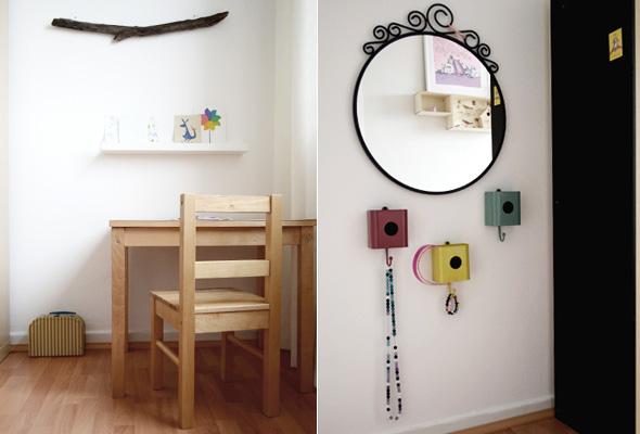 Kinderzimmer Spiegel und Tisch