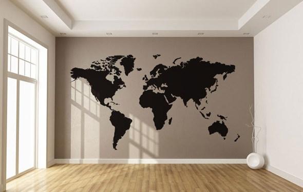 Weltkarte - Wallsticker von Wallstick
