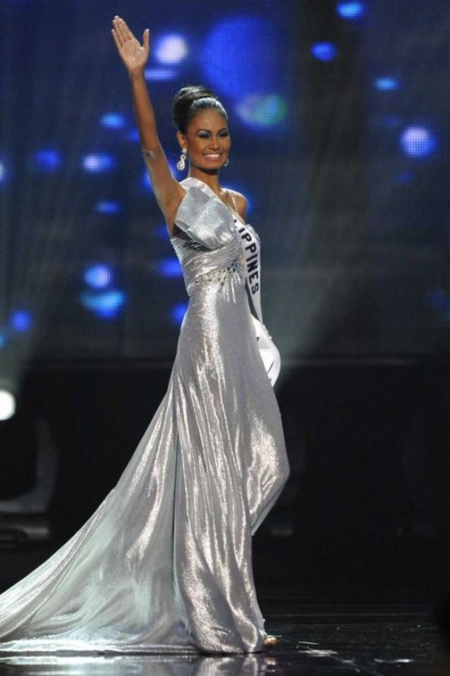 At the Miss Universe Pageant