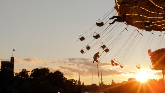 An amusement park ride-Learning to release our children