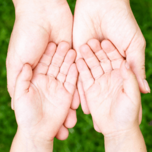 Child hands in adult hands-You are Chosen by God