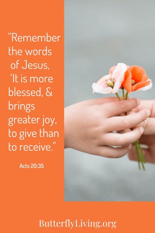 Hand with flowers-what does the bible say about generosity