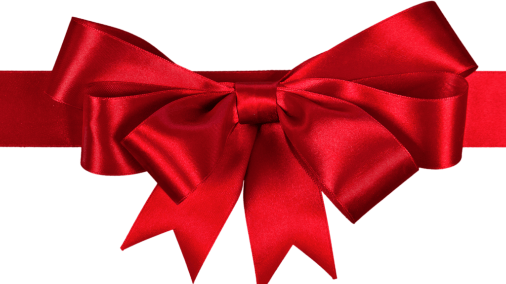 Red bow-Simple CHRISTMAS