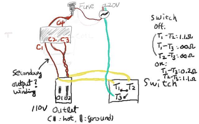 110v to 220v transformer wiring diagram
